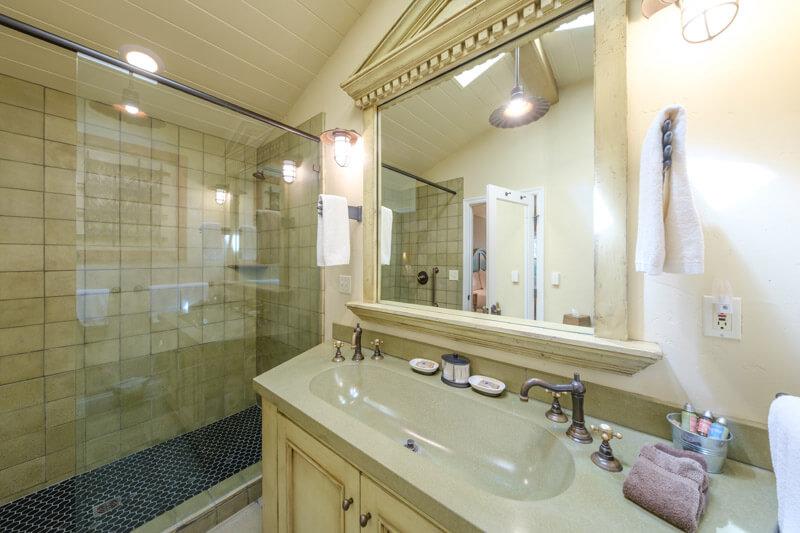 cozy king bathroom shower